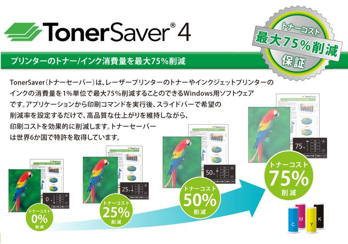 プリンターのトナー・インク量を最大75%削減